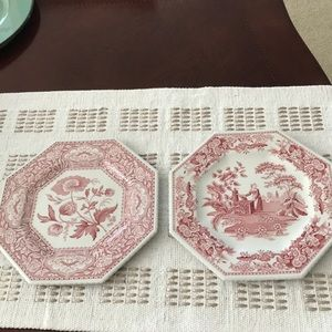 "2 beautiful vintage 9"" Spode plates"